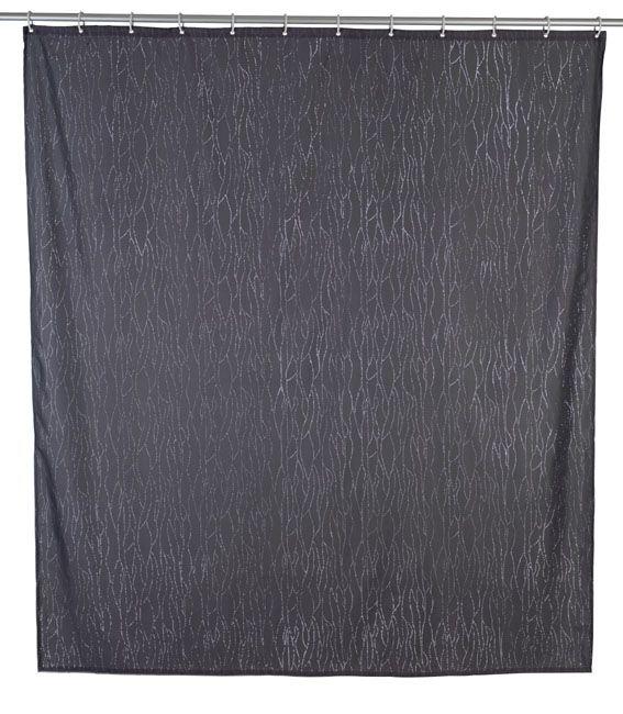 Der Duschvorhang in grau wirkt mit dem glänzenden Applikationen sehr edel. Er ist aus 100% Polyester und durch eine hochwertige Oberflächen-Veredelung wasserabweisend. Gesheen für € 29,99 bei kloundco.de.