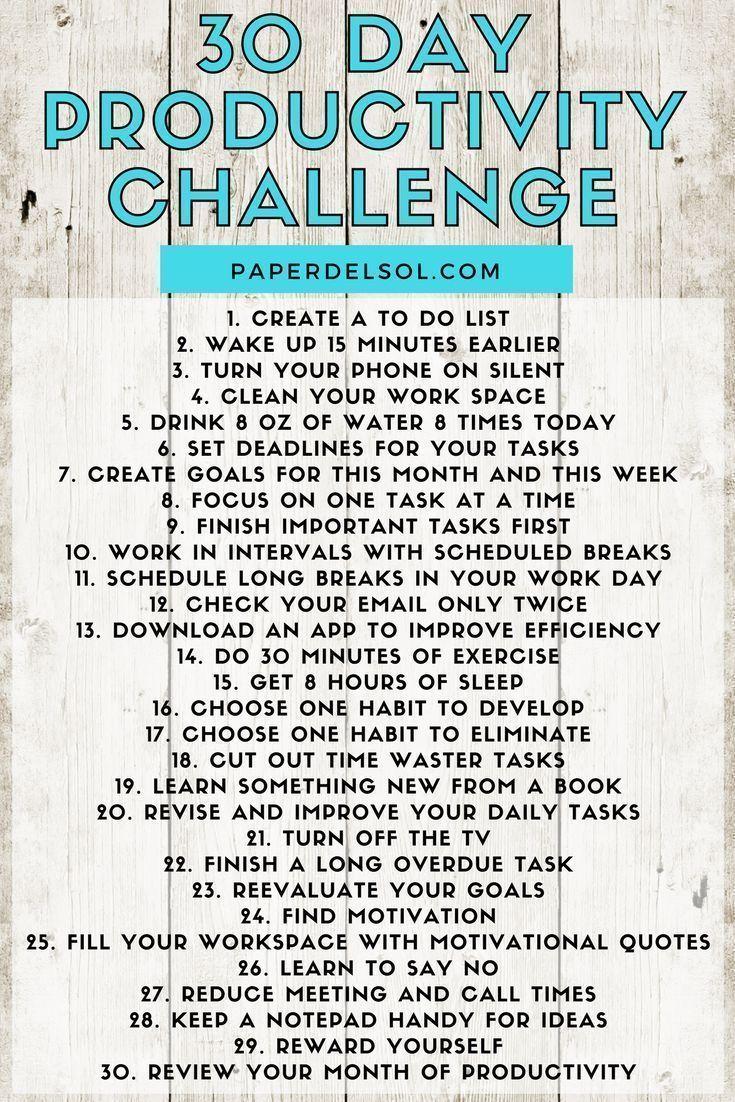 30 Day Productivity Challenge