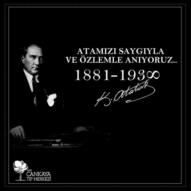 Bugün 10 Kasım, Türkiye Cumhuriyeti'nin kurucusu Gazi Mustafa Kemal Atatürk'ün ebediyete intikalinin 78. yıl dönümü.. Ulu Önderimiz Mustafa Kemal Atatürk'ü,Saygı ve Özlemle Anıyoruz...
