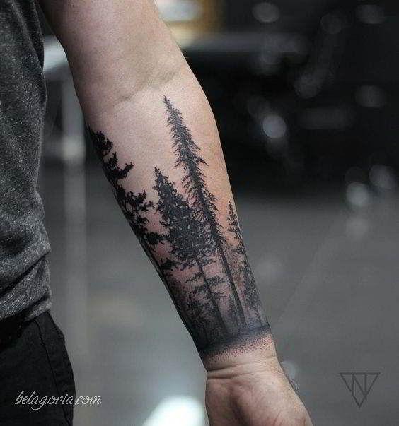 Tatuajes De Bosques Y Su Significado Bosque Tatuaje Disenos De Tatuajes Para Hombres Tatuajes Manga Completa