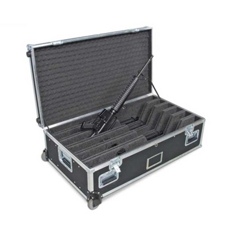 China Flight Case http://www.anysourcing.com/product/china-flight-case/ Any Package Co.,LTD Email:info@anysourcing.com Skype:denglushun What's app:0086 185 0755 1040 This flight case is used to put rifles and transport them.For wooden box,it is dangerous when we put munitions into them.This flight case slove this question,the inner dividers could protect the rifles from touching to each other.The wheels bring too much convenience for you when you take this case by yourself. #case #cases…