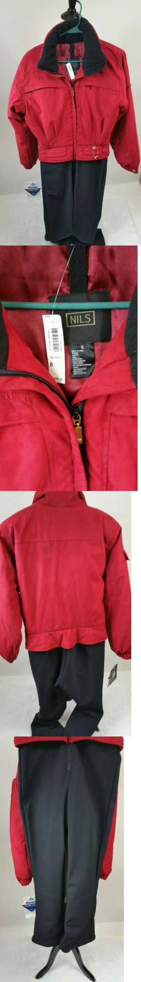 Snowsuits 62178: Nwt $485 Nils One Piece Full Body Ski Suit M 6 Paprika And Black Beautiful -> BUY IT NOW ONLY: $69 on eBay!