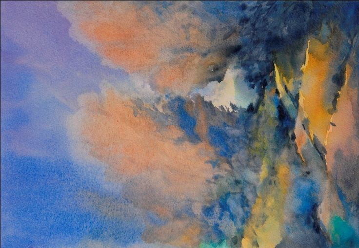 """""""Through the Hole in the Trees"""", is an original watercolor, 11"""" X 15"""" on 140-pound Kilimanjaro cold press paper, using American Journey and Davinci paints.  The painting is an exploration of the rolling hills, trees and back roads which characterize the Texas Hill Country where I live and paint."""