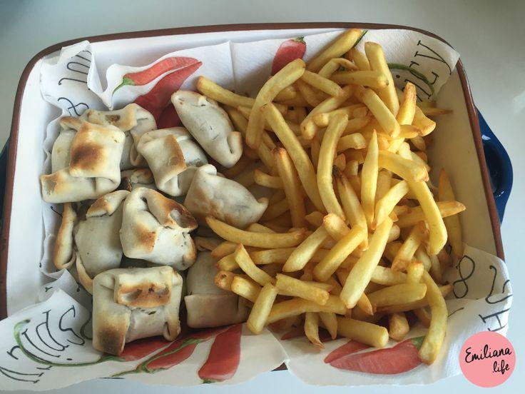 churrasco, asado, barbecue, batata frita, papa frita, pastel, empanada