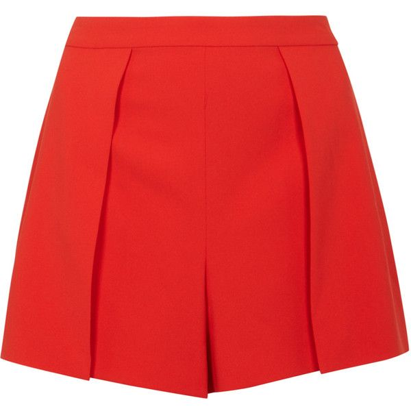 Alice + Olivia Larissa Red Shorts - Size 6 (925 BRL) ❤ liked on Polyvore featuring shorts, alice olivia shorts, zipper shorts and red shorts