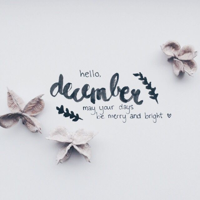 Hello december. May your days be merry and bright. By Angélica