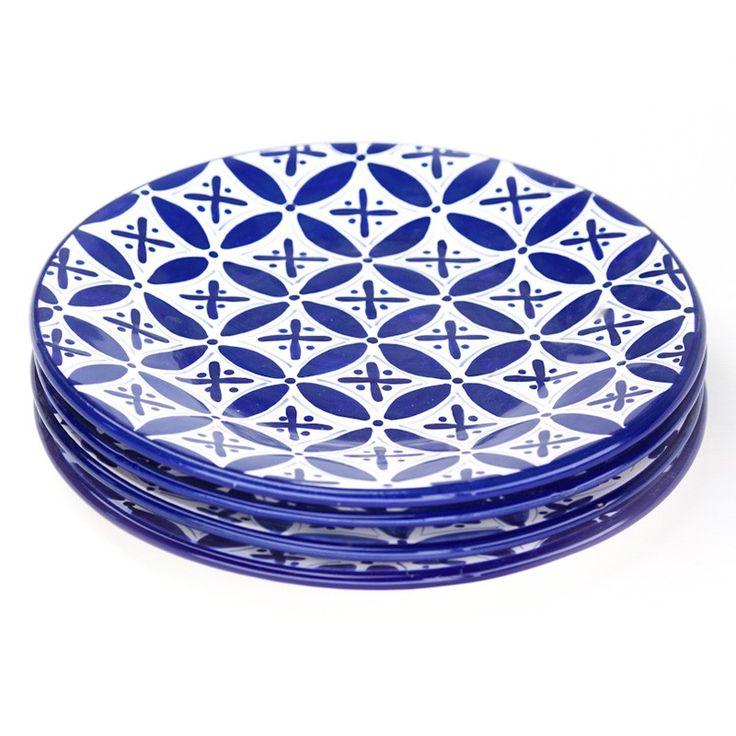 Sobremesa by Greenheart // Blue Fez Dinner Plates, Set of 4