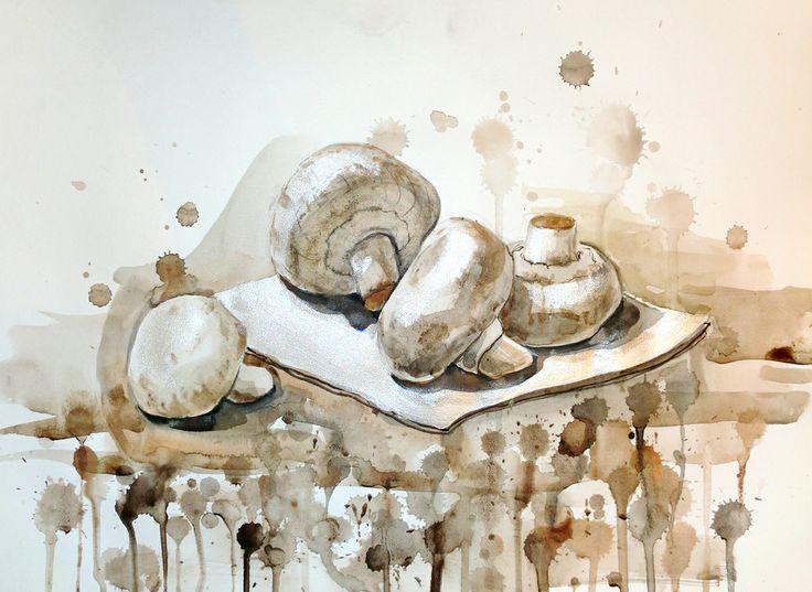 illustration, mushroom