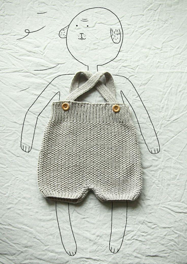 Marcel : culotte haute à bretelles 100% coton (naissance --> 18 mois)