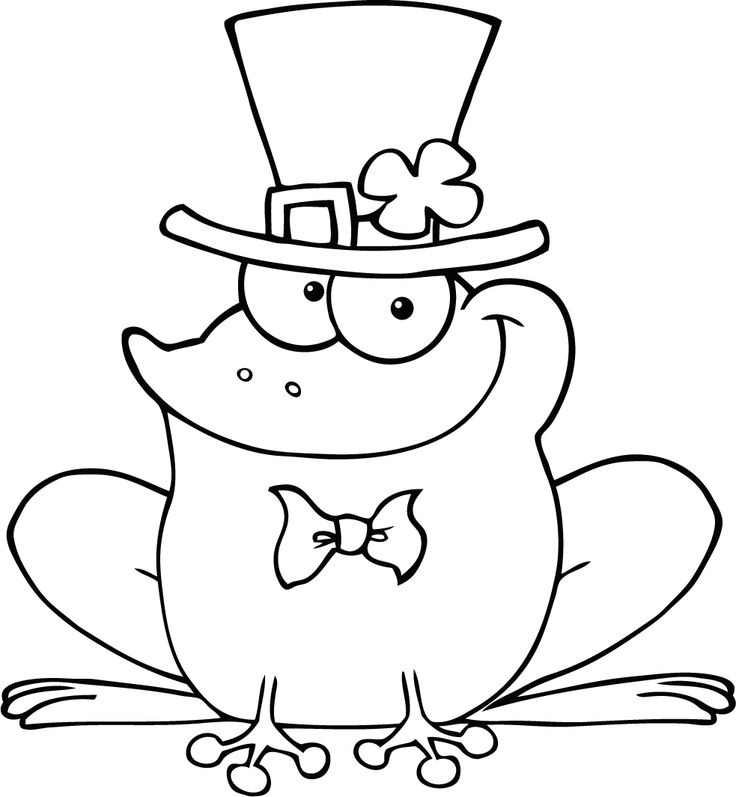 free printable happy frog picture to colour for preschool