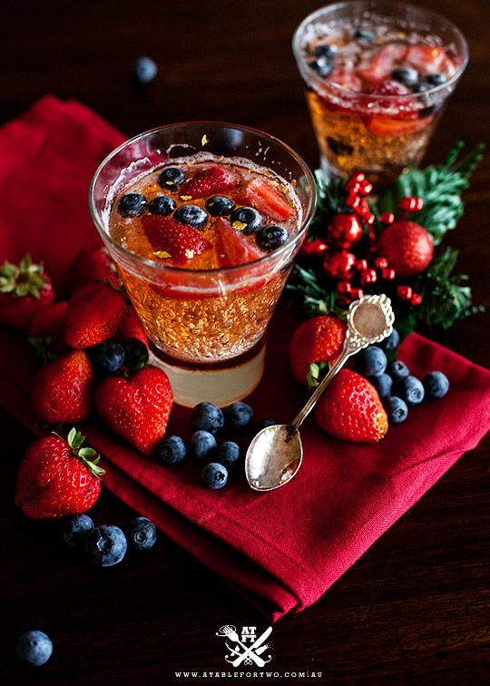 A great pre-dinner drink with a twist!!! Would also be great with raspberries.