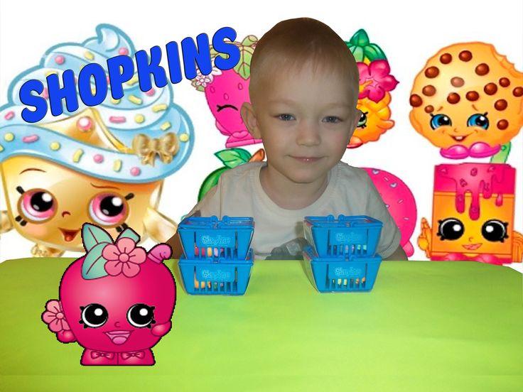 Шопкинсы распаковка корзиночек с игрушками сюрпризами Shopkins Surprise