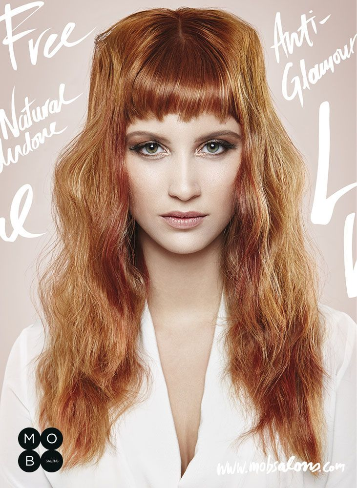 Etheral SS15 Collection by Mob Salons #red #undone #wavy #antiglamour #hairstyle