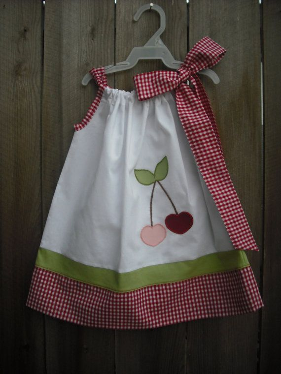 Valentine's Day Pillowcase Dress: Colors Combos, Pillowcase Dresses, Color Combos, Dresses Fin, Girls Dresses, Valentines Day, Pillowcases Dresses, Cherries Valentines, Dresses Handmade