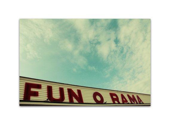 photography, maine photography, carnival photography, boardwalk, summer, york beach, maine - Fun o Rama, 8x12 photography print