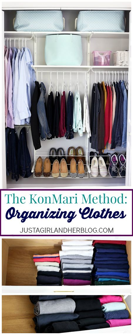 Ranger ses vêtements avec la méthode KonMari The KonMari Method for organizing clothes-- I need to try this! | JustAGirlAndHerBlog.com