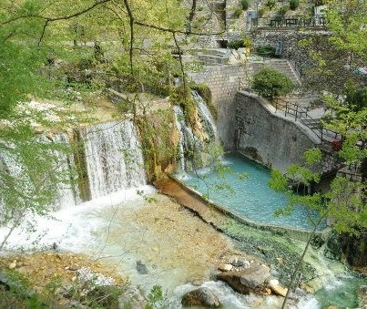 Pozar thermal springs. A place to heel your body and soul! Located at the foot of Kaimaktsalan Mountain, the famous Greek ski resort, only 110km from Thessaloniki.