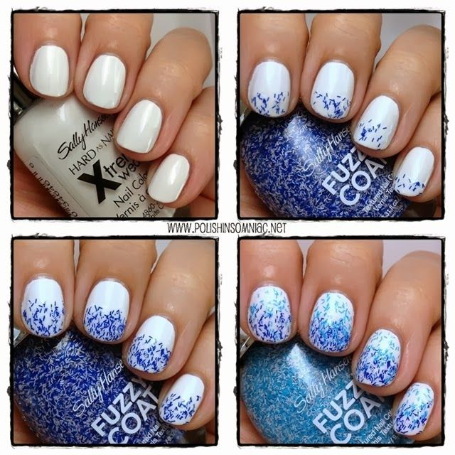 4 Steps to Easy Water Inspired Nail Art with Sally Hansen Fuzzy Coat