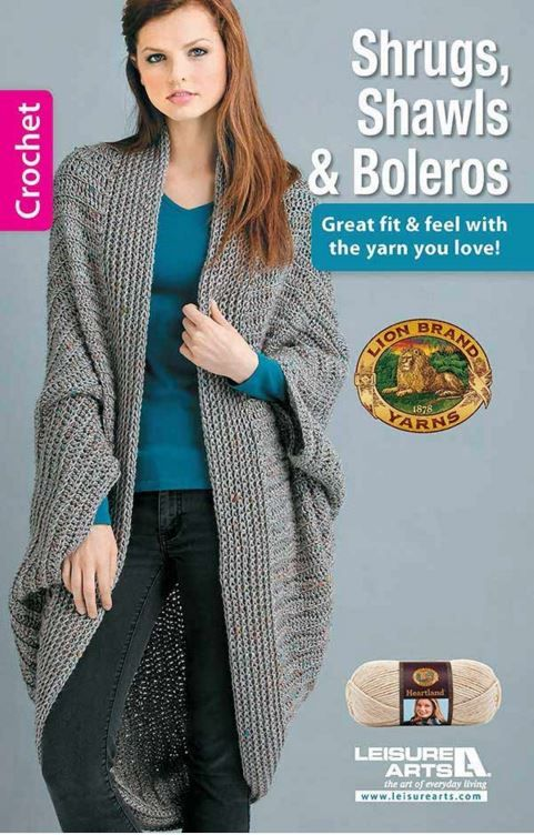 Shawls Shrugs and Boleros - get the booklet and make your perfect Spring wardrobe!