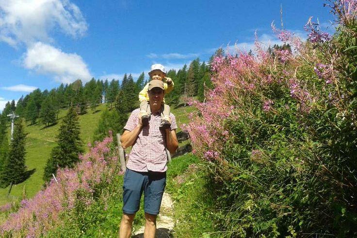 Wanderung am Rosengarten mit Kindern zur Heinzenalm
