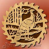 cross scroll saw patterns free | Scroll Saw Patterns :: Birds :: Saw blade - turkey -