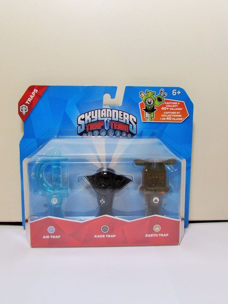 Skylanders Trap Team Tripple Pack Air Kaos Earth BINB