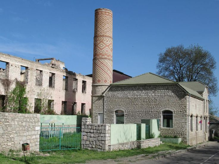 The Saatli Mosque (1883) on the main square in Shushi, Republic of Nagorno Karabakh, has been restored but is currently empty. Much of the city remains in ruins from the 1992 battle in which the Azerbaijan Army was defeated.