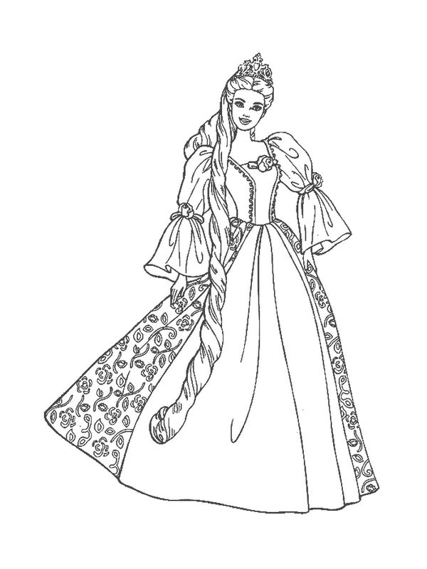 Barbie Coloring Pages Black And White | Coloring Pages Wallpaper
