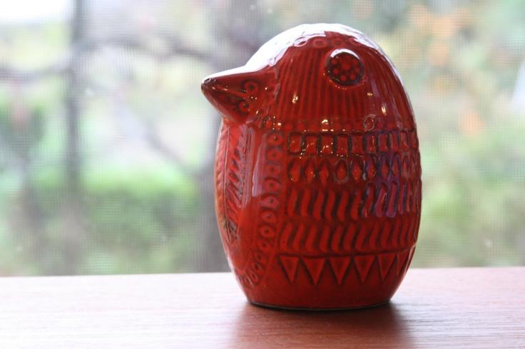 Upsala Ekeby/ウプサラ エキュビ マリ・シムルソン 赤い鳥 オブジェ