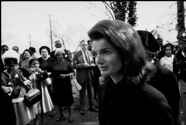 ATLANTA—Jackie Kennedy at Martin Luther King Jr.'s funeral, 1968.  © Constantine Manos / Magnum Photos