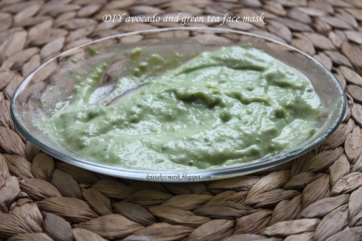 Avokado ve yeşil çay yüz maskesi :)