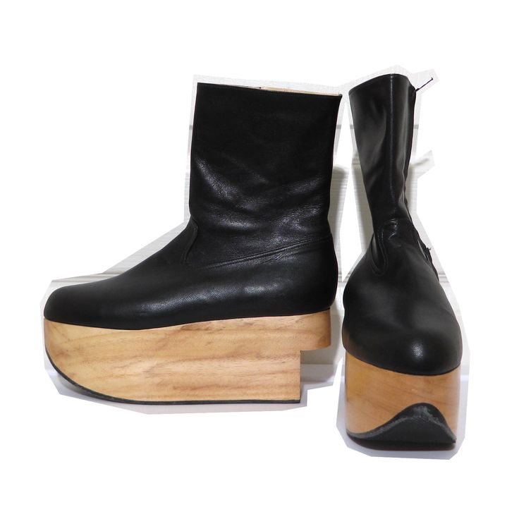 Vivienne Westwood Gold Label Rocking Horse Shoes Boots in Black Kid Leather
