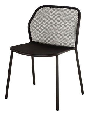 Chaise empilable Darwin / Métal Noir - Emu - Décoration et mobilier design avec Made in Design
