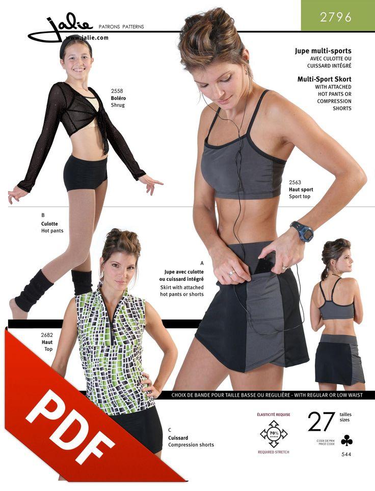 Jalie 2796 - Running Skirt PDF Pattern