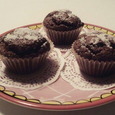 Homemade chocolade-kokosnoot muffin ☆