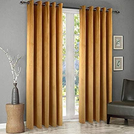 Ikea Racka Curtain Rod White Amazon Co Uk Kitchen Home In 2020 Curtains Velvet Curtains Yellow Living Room