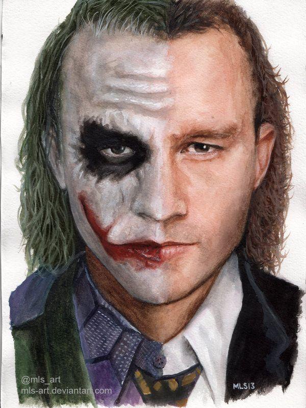 Joker/Heath Ledger by *MLS-art on deviantART