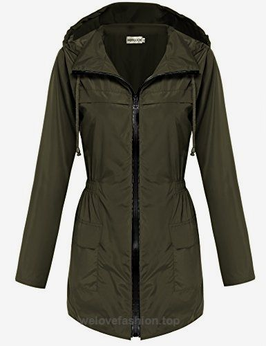 HOTOUCH Women Fishtail Festival Raincoat Parka Hooded Jacket Coat(Army Green,L)  BUY NOW     $26.99     Brand:  HOTOUCH   3 Colors: Navy Blue, Black, Army Green    Color Style:  Natural Color   Pattern:  Solid   Design:  Asymmetrical Hem   Season:  All Season   Collar: ..