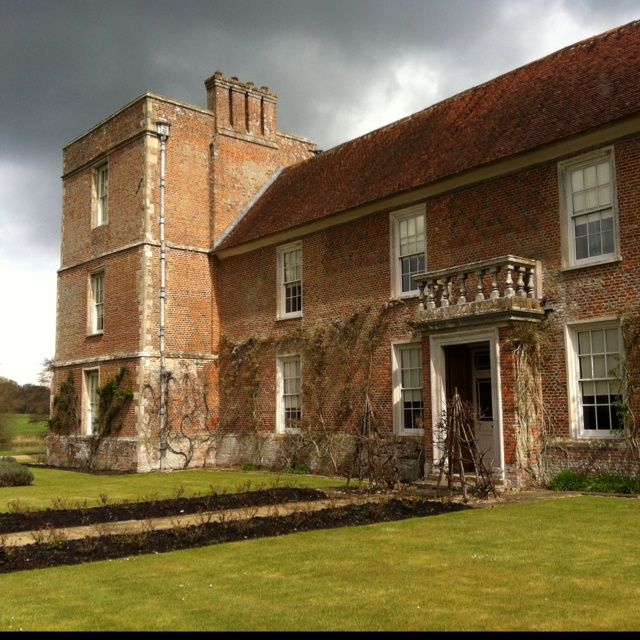 The Vyne - gorgeous National Trust property near Basingstoke (shame about the black cloud looming overhead!)