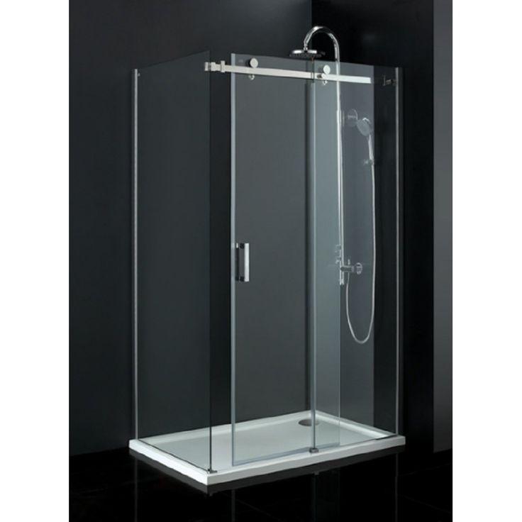 Small Frameless Sliding Glass Shower Doors