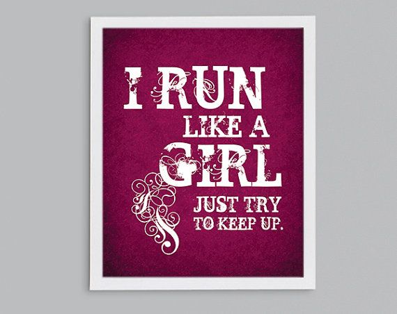 I Like A Girl Quotes: Cross Country Running Gift