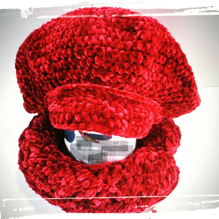 Knitted cowl crochet hat