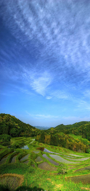 千葉県鴨川市の大山千枚田、まさにパワースポット | 千葉県の撮影スポット Japan,landscape,photography,sky