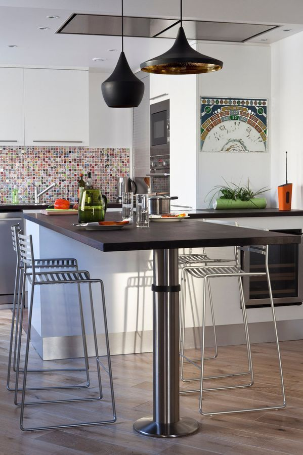 Les 25 meilleures id es de la cat gorie table haute sur - Table haute pour petite cuisine ...