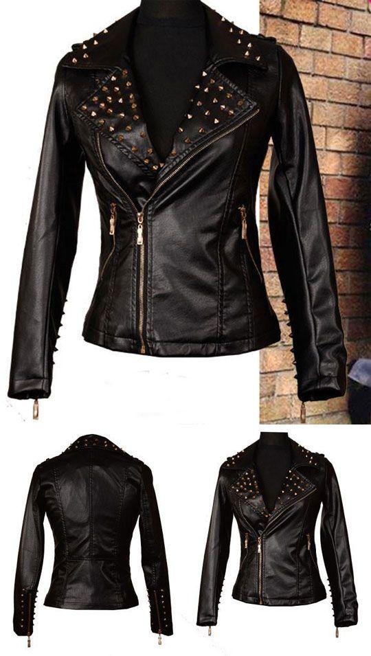 99f31f5e864f8 Punk Fashion Nice Leather Rivet Jacket #jacket #coat #rivet #fashion #Punk  #jackets