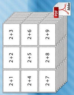 Aan de hand van flitskaarten kan een leerling optellingen leren.