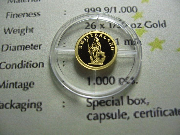 SWITZERLAND 2008 LIBERIA $12 MINI .62 GRAM 999 GOLD PROOF COIN RARE ONLY 1 EBAY
