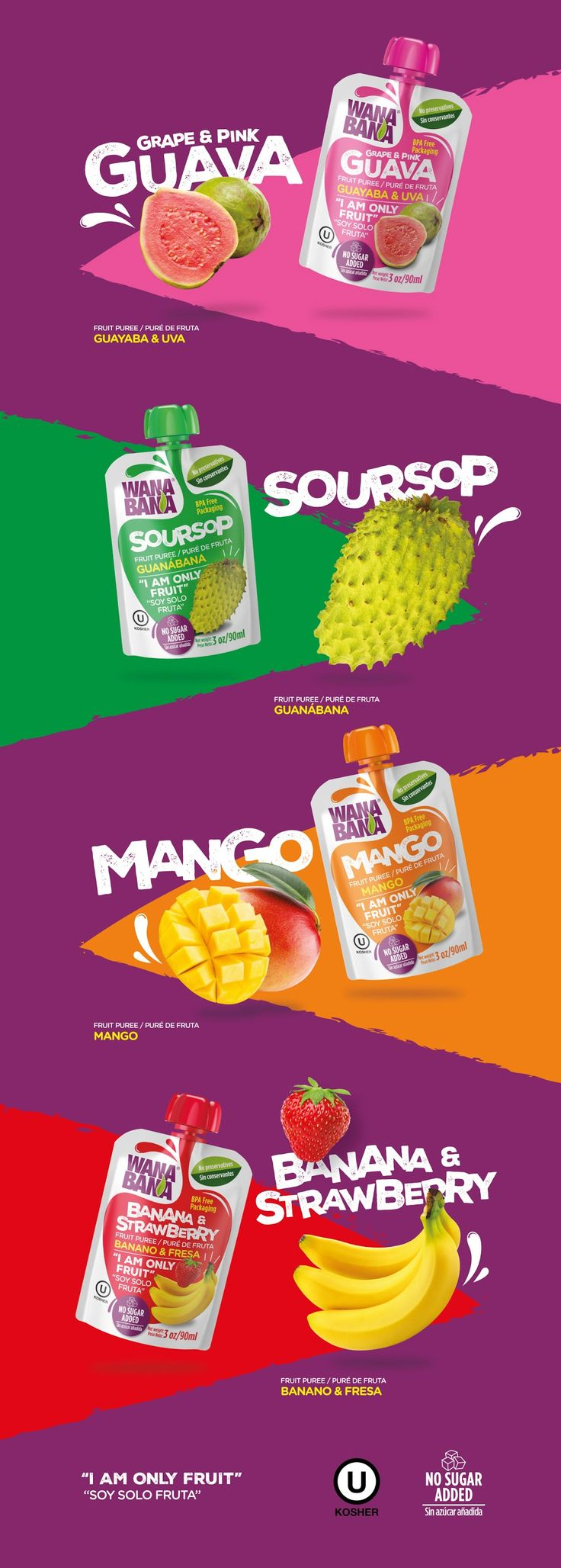 Wanabana - Fruit Puree on Packaging of the World - Creative Package Design Gallery
