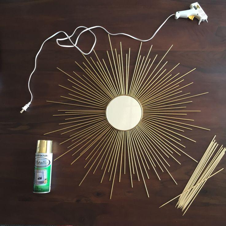 DIY Sun Burst Mirror- less than $10 and less than 10 minutes!