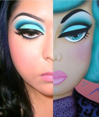 Cartoon Makeup. Amazing.